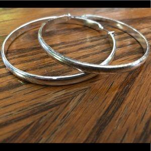 Jewelry - Silver tone hoop earrings